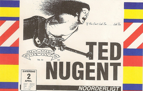 Ted Nugent -  2 apr. 1988