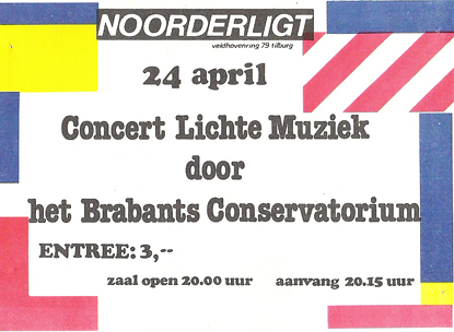 Brabants Conservatorium - 24 apr 1985