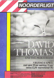 David Thomas & The Pedestrians -  6 apr. 1984