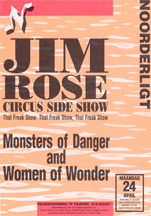 Jim Rose Circus Side Show - 24 apr 1995