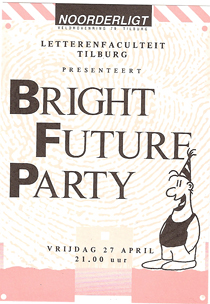 Letterenfaculteit met Bright Future Party - 27 apr 1990