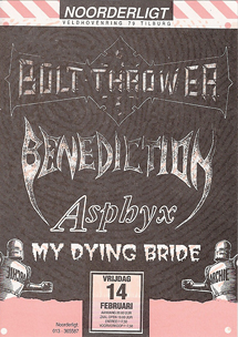 Boltthrower / Benediction / Asphyx / My Dying Bride - 14 feb. 1992
