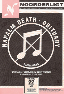 Obituary / Napalm Death - 22 mei 1992