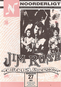 Jim Rose Circus Side Show - 27 mei 1993