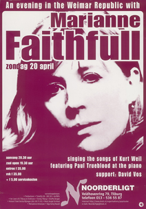 Marianne Faithfull - 20 apr 1997
