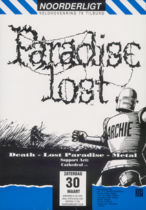 Paradise Lost / Cathedral - 30 mrt 1991