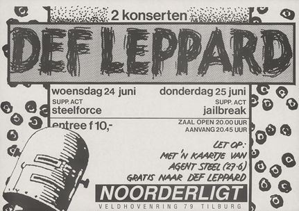 Def Leppard try-out   - 24 jun 1987