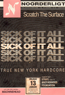 Sick Of It All - 13 jan. 1995