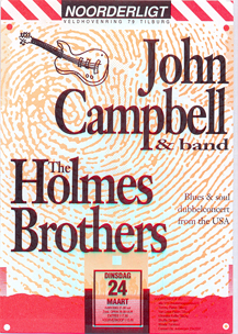 John Campbell & the Holmes Brothers - 26 mrt. 1992