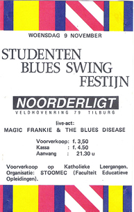Studenten Blues Swing Festijn -  9 nov 1988