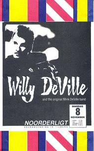 Willy DeVille and the original Mink DeVille Band -  8 nov 1988