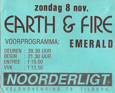 Earth & Fire -  8 nov 1987