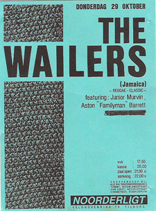Wailers feat. Junior Murvin / Aston Barrett - 29 okt 1987
