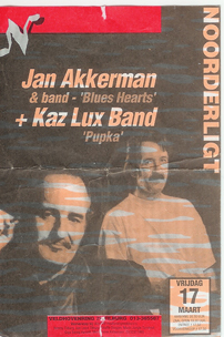 Jan Akkerman & Band / Kaz Lux & Band - 17 mrt. 1995